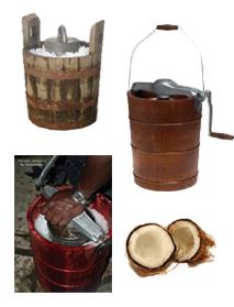 Blocs de 2 kg - Sorbetiere en bois traditionnelle ...
